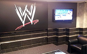 2nd floor lobby at WWE Headquarters