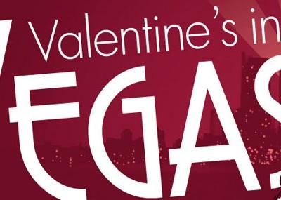 Valentine's in Vegas promo poster design